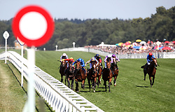 Old Persian ridden by Jockey William Buick (centre left) on the way to winning the King Edward VII Stakes during day four of Royal Ascot at Ascot Racecourse.