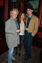 JOHN ERMATINGER Chief Executive Officer at True Religion Apparel, ROSELLA GIULIANI and CHARLES JEFFERY at the True Religion House Party held at 48 Greek Street, Soho, London on 2nd June 2016.