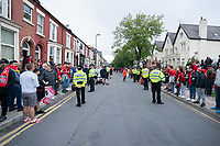 Football - 2019 / 2020 Premier League - Liverpool vs Chelsea<br /> Fans gather to welcome the Liverpool team coach, at Anfield<br /> <br /> Credit: COLORSPORT/TERRY DONNELLY
