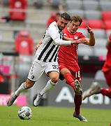 #32 Vincenzo Grifo von SC Freiburg, Leon Goretzka #18 von FC Bayern Muenchen During the Bayern Munich vs SC Freiburg Bundesliga match  at Allianz Arena, Munich, Germany on 20 June 2020.