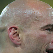 Argentina Captain Felipe Contepomi sheds a tear after his sides 13-12 victory during the Argentina V Scotland, Pool B match at the IRB Rugby World Cup tournament. Wellington Regional Stadium, Wellington, New Zealand, 25th September 2011. Photo Tim Clayton...