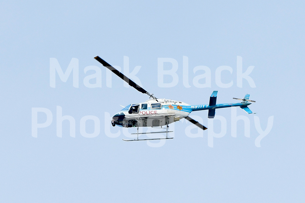The Chicago Police Department Helicopter in Chicago on Saturday, Aug. 15, 2020. Photo by Mark Black