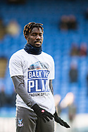 Crystal Palace #23 Pape Souaré   wearing t shirts showing support to Selhurst Park redevelopment  during the Premier League match between Crystal Palace and Tottenham Hotspur at Selhurst Park, London, England on 25 February 2018. Picture by Sebastian Frej.