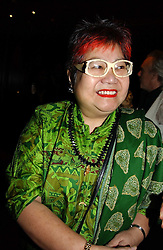 TV chef NANCY LAM at a fund raising dinner hosted by Marco Pierre White and Frankie Dettori's in aid of Conservative Party's General Election Campaign Fund held at Frankie's No.3 Yeoman's Row,æLondon SW3 on 17th January 2005.<br />