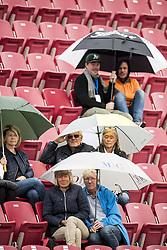 September 15, 2017 - BÅ'Stad, Sverige - 170915 Publik med paraplyer i regnet under tennismatchen i Davis Cup mellan Sverige och Litauen den 15 september 2017 i BÅ'stad  (Credit Image: © Petter Arvidson/Bildbyran via ZUMA Wire)