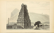 Hindoo [Hindu] Temples At Tritchencore From the book ' The Oriental annual, or, Scenes in India ' by the Rev. Hobart Caunter Published by Edward Bull, London 1834 engravings from drawings by William Daniell