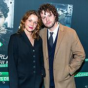 NLD/Hilversum/20191202 - Premiere Telefilms 2019, Sophie Hoppener met haar broer Thomas Hoppener