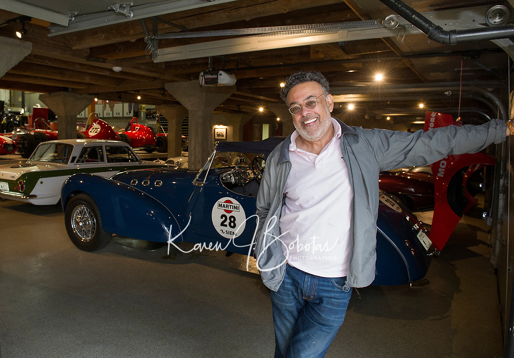 Nick Grewal's will present his extensive antique race car collection as a fundraiser car show for the Boys and Girls Club this July.  (Karen Bobotas/for the Laconia Daily Sun)