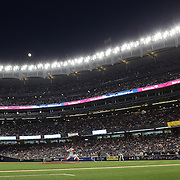 NEW YORK, NEW YORK - July 17: Pitcher David Price #24 of the Boston Red Sox pitching as the moon rises above Yankee Stadium during the Boston Red Sox Vs New York Yankees regular season MLB game at Yankee Stadium on July 17, 2016 in New York City. (Photo by Tim Clayton/Corbis via Getty Images)