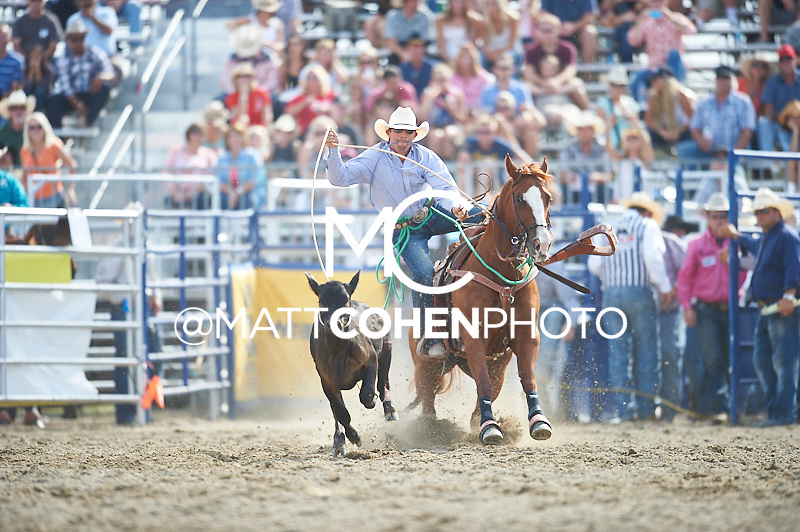 Tie-down roper Marshal Leonard of Shongaloo, LA competes at the Rancho Mission Viejo Rodeo in San Juan Capistrano, CA.  <br /> <br /> <br /> UNEDITED LOW-RES PREVIEW<br /> <br /> <br /> File shown may be an unedited low resolution version used as a proof only. All prints are 100% guaranteed for quality. Sizes 8x10+ come with a version for personal social media. I am currently not selling downloads for commercial/brand use.