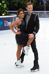 © Licensed to London News Pictures. 18/12/2018. London, UK. Saira Khan and Mark Hanretty attends a photocall for the launch of ITV's Dancing On Ice new series. Photo credit: Ray Tang/LNP