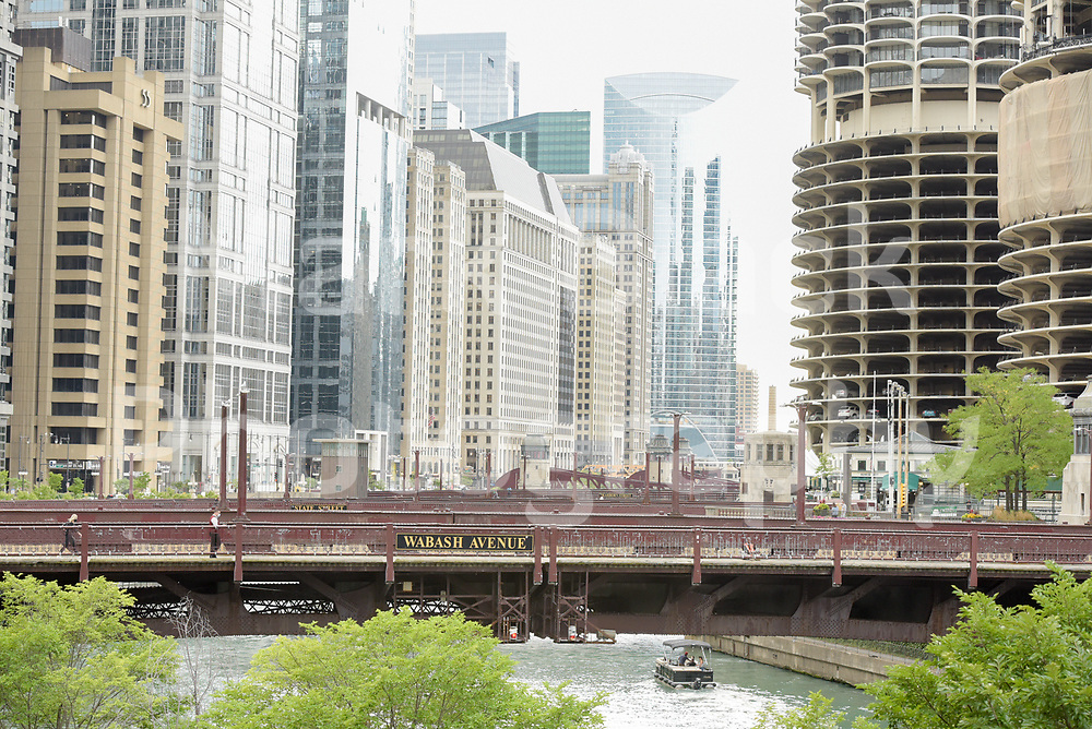 Bridge over the Chicago River in Chicago, Illinois. Photo by Mark Black