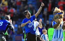 Huddersfield Town manager David Wagner salutes the fans after the Premier League match at the John Smith's Stadium, Huddersfield.