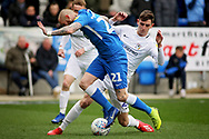 Peterborough Utd forward Marcus Maddison is fouled (21) during the EFL Sky Bet League 1 match between Peterborough United and Coventry City at London Road, Peterborough, England on 16 March 2019.