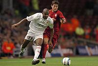 Fotball<br /> UEFA Champions League 2004/2005<br /> Foto: Dppi/Digitalsport<br /> NORWAY ONLY<br /> 15.09.2004<br /> <br /> LIVERPOOL FC v AS MONACO<br /> <br /> MAICON (MON) / HARRY KEWELL (LIV)