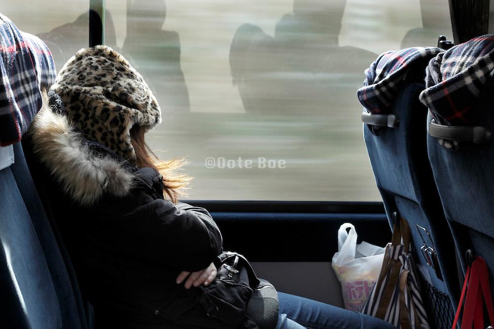 Japan commuting nap