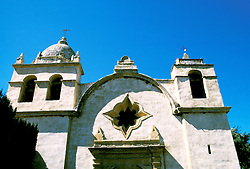 California: Monterey Region.  The Carmel Mission..Photo #: camon3101..Photo copyright Lee Foster, 510/549-2202, lee@fostertravel.com, www.fostertravel.com