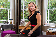 Gayle Killilea, photographed at home. She is a former gossip columnist and a socialite. Divorced wife of property developer Sean Dunne