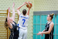 Marusa Senicar of ZKK Triglav Kranj during basketball match between ZKK Triglav Kranj and ZKD Maribor in Round #1 of 1. Slovenian Woman basketball league, on February 20, 2018 in ŠD Planina, Kranj, Slovenia. Photo by Ziga Zupan / Sportida