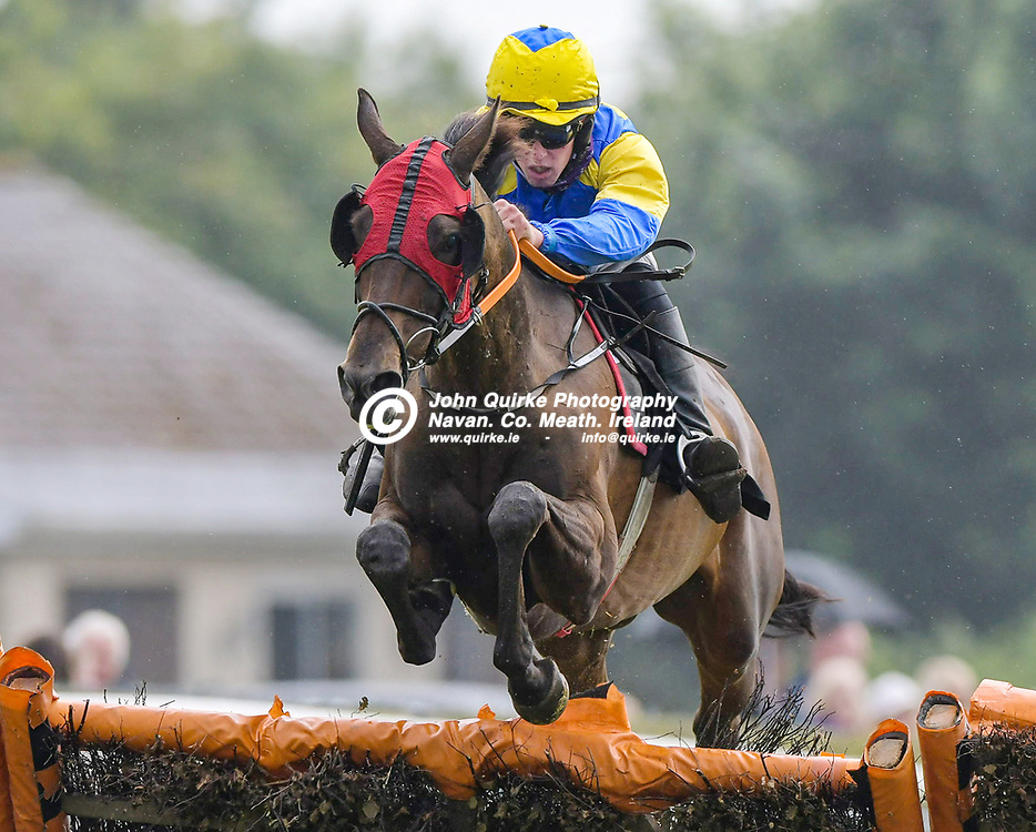 'Let Her Flow' with Dillon Paul Maxwell winning 'The Adare Manor Opportunity Handicap Hurdle (Div 2)'  at Bellewstown Races for trainer, Matthew J. Smith .<br /> <br /> Photo: GERRY SHANAHAN-WWW.QUIRKE.IE<br /> <br /> 03-07-2021