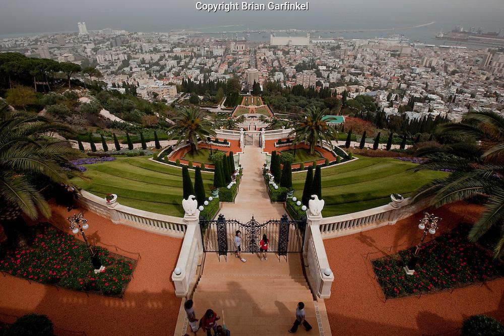 Day 1 - The Baha'i Gardens in the city of Haifa, Israel. (Photo by Brian Garfinkel)