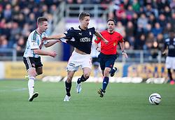 Hearts Jamie Walker and Falkirk's Will Vaulks. <br /> Falkirk 0 v 3 Hearts, Scottish Championship game played 21/3/2015 at The Falkirk Stadium.