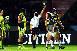 Adam Jones of Harlequins is shown a yellow card - Mandatory byline: Patrick Khachfe/JMP - 07966 386802 - 03/02/2017 - RUGBY UNION - The Twickenham Stoop - London, England - Harlequins v Sale Sharks - Anglo-Welsh Cup.