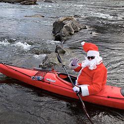 Santa Arrives By Boat