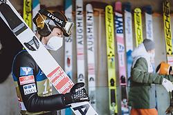 02.01.2021, Bergiselschanze, Innsbruck, AUT, FIS Weltcup Skisprung, Vierschanzentournee, Innsbruck, Qualifikation, im Bild Manuel Fettner (AUT) // Manuel Fettner of Austria during his Qualification Jump for the Four Hills Tournament of FIS Ski Jumping World Cup at the Bergiselschanze in Innsbruck, Austria on 2021/01/02. EXPA Pictures © 2020, PhotoCredit: EXPA/ JFK