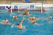 © Filippo Alfero<br /> Genova , 18/06/2008<br /> FINA World League 2008 Pallanuoto Maschile - Italia vs Montenegro<br /> sport , pallanuoto<br /> Nella foto: Montenegro in attacco<br /> <br /> © Filippo Alfero<br /> Genova , Italy , 18/06/2008<br /> FINA Men's Water Polo World League 2008 Super Final - Italy vs Montenegro<br /> In the photo: a moment of the match