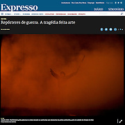 """Screengrab of """"War reporters"""" published in Expresso"""