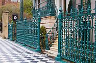66512-00107 Iron fence and decorations on John Rutledge House Inn Bed & Breakfast, Charleston, SC