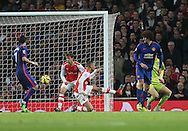 Arsenal's Kieran Gibbs scores an own goal to Manchester United 1-0<br /> <br /> Barclays Premier League- Arsenal vs Manchester United - Emirates Stadium - England - 22nd November 2014 - Picture David Klein/Sportimage