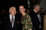 Lord Weidenfeld and Bettina von Hase. The opening of ' Princely Spendour: The Dresden Court 1580-1620' The Gilbert Collection, Somerset House. London. 8 June 2005. ONE TIME USE ONLY - DO NOT ARCHIVE  © Copyright Photograph by Dafydd Jones 66 Stockwell Park Rd. London SW9 0DA Tel 020 7733 0108 www.dafjones.com