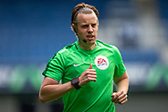 Assistant Referee Matt Foley before the EFL Sky Bet Championship match between Queens Park Rangers and Barnsley at the Kiyan Prince Foundation Stadium, London, England on 20 June 2020.