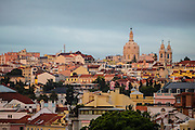 """The view from one f the balconies in one of the rooms at hotel """"Casa das Janelas com Vista"""", where the summit of Basilica da Estrela can be seen."""