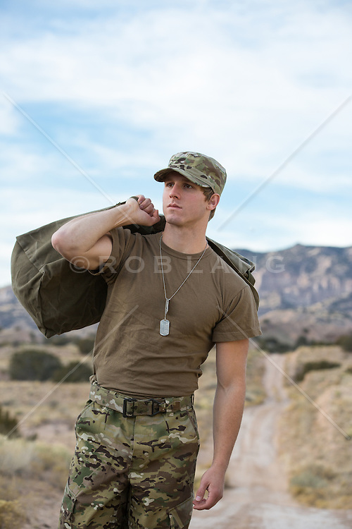 All American solider coming home from the war