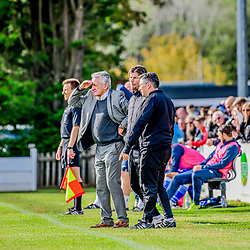 Martyn Rogers manager for Tiverton Town at the Webbswood stadium Supermarine Hosts Tiverton Town fc at the Webbswood stadium in Swindon Wiltshire 26/9/2020 early goal see Ryan Campbell take the lead Final score 2-1 to Tiverton town