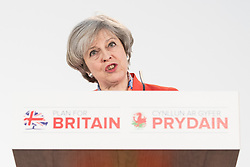 © Licensed to London News Pictures . 17/03/2017 . Cardiff , UK. Prime Minister THERESA MAY speaks at the Conservative Party Spring Conference at the SSE SWALEC Stadium in Cardiff . Photo credit: Joel Goodman/LNP