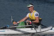 Sarasota. Florida USA.AUS PR M1X.Erik HORRIE,  Gold Medalist. Sunday Final's Day at the  2017 World Rowing Championships, Nathan Benderson Park<br /> <br /> Sunday  01.10.17   <br /> <br /> [Mandatory Credit. Peter SPURRIER/Intersport Images].<br /> <br /> <br /> NIKON CORPORATION -  NIKON D500  lens  VR 500mm f/4G IF-ED mm. 200 ISO 1/1600/sec. f 7.1