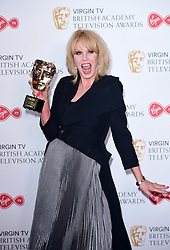 Joanna Lumley with the Fellow Award in the press room at the Virgin TV British Academy Television Awards 2017 held at Festival Hall at Southbank Centre, London. PRESS ASSOCIATION Photo. Picture date: Sunday May 14, 2017. See PA story SHOWBIZ Bafta. Photo credit should read: Ian West/PA Wire