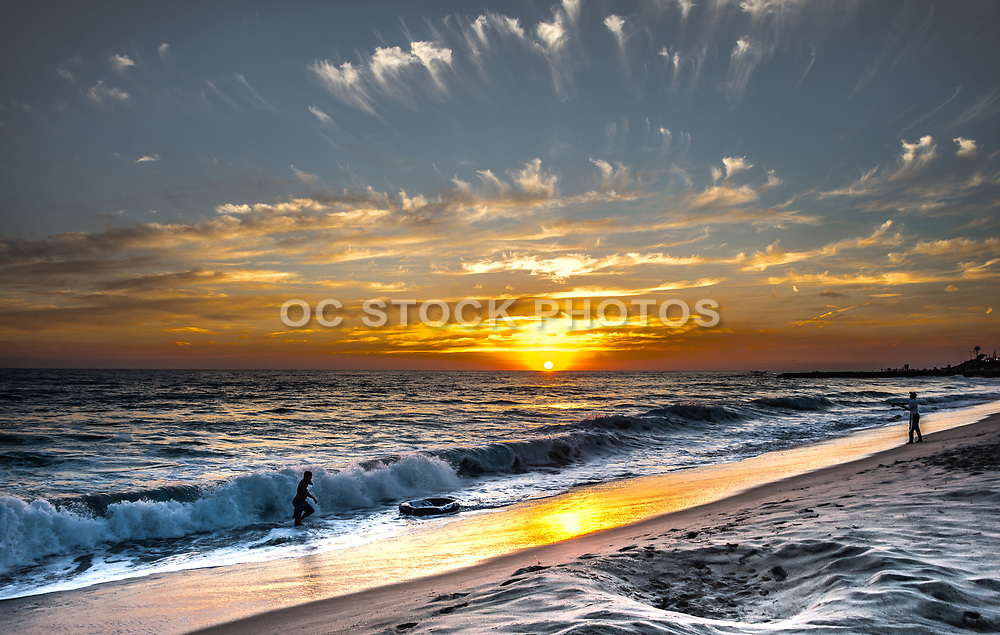 Tamarac Beach In Carlsbad At Sunset