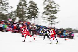 March 9, 2019 - Oslo, NORWAY - 190309  Aleksandr Bolsjunov of Russia and Emil Iversen of Norway compete in men's 50 km classic technique during the FIS Cross-Country World Cup on March 9, 2019 in Oslo..Photo: Fredrik Varfjell / BILDBYRÃ…N / kod FV / 150211. (Credit Image: © Fredrik Varfjell/Bildbyran via ZUMA Press)
