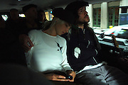 John Frusciante of The Red Hot Chili Peppers and his girlfriend Emily Kokal are seen in the car on the way to Fuse for a live performance in Manhattan, NY. They have released a new album. 5/9/2006 Photo by Jennifer S. Altman