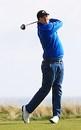 Andy Hogan (Dublin) on the 1st tee during the PGA Winter Series Southern Branch in Rush Golf Club on Friday 20th March 2015.<br /> Picture:  Thos Caffrey / www.golffile.ie