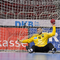 21.11.2020, Duesseldorf, ISS Dome, GER, 1.Liqui Moly HBL,  BHC06 vs. Fuechse Berlin<br /><br />1.Liqui Moly HBL  regulations prohibit any use of photographs as image sequences and/or quasi-video<br />im Bild Dekan Milosavljev ( Fuechse Berlin #96 ).<br /><br />Foto © nordphoto / freund *** Local Caption ***