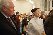 EDWARD BOOTH-CLIBBORN; MARIKO MORI, Mariko Mori opening, Royal Academy Burlington Gardens Gallery. London. 11 December 2012.
