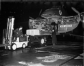 1956 - Cigarette machine being unloaded from Aer Lingus plane at Dublin Airport