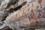 Cave paintings in Monte Alegre, near Santarem in Para, Amazonia, Brazil.