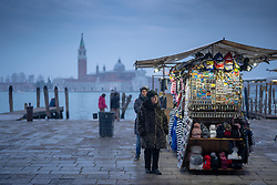 General views of street vendors in Venice. From a series of travel photos in Italy. Photo date: Sunday, February 10, 2019. Photo credit should read: Richard Gray/EMPICS Entertainment